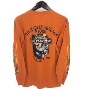 HARLEY DAVIDSON 105 Years T-shirt L Long Sleeve